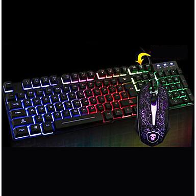 Chef Schatten t6 leuchtende Tastatur-Maus-Anzug Desktop-Computer USB-Kabel Tastatur