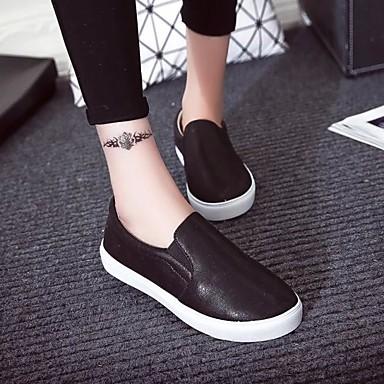 Dorado Slip Negro Plano Plata Confort Mujer Tacón Zapatos bajo 05304364 taco Semicuero Otoño Zapatos de On y qOUzOHZpw