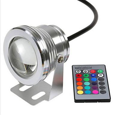 Rgb 10w lámpara subacuática de la seguridad impermeable de la seguridad dc12v subacuático luces coloridas v1pc