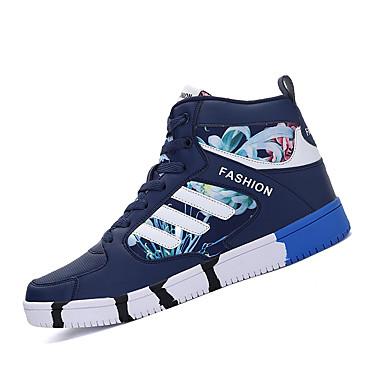 Feminino-Tênis-Conforto-Rasteiro-Preto Azul Preto e Vermelho-Couro Ecológico-Ar-Livre