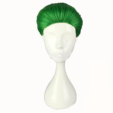 Syntetiske parykker Lige Grøn Dame Cosplay Paryk Kort Syntetisk hår