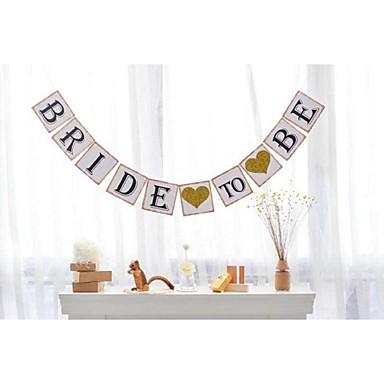 Bryllup / Fødselsdag / Forlovelse Perle-papir Bryllup Dekorationer Blomster Tema / Vintage tema / Rustik Theme Forår / Sommer / Efterår