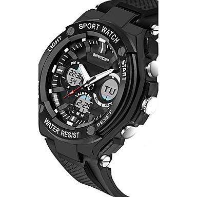 SANDA Férfi Sportos óra Intelligens Watch Karóra Digitális Japán kvarc  Szilikon Fekete   Ezüst 30 m Vízálló Kronográf LED Analóg - Digitális Luxus  Alkalmi ... 9497fc0c5a
