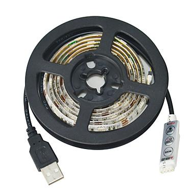 JIAWEN Fleksible LED-lysstriber 30 lysdioder RGB Chippable Vandtæt Selvklæbende Passer til Køretøjer DC 5V Jævnstrøm5