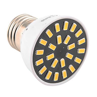 YWXLIGHT® 400-500lm E26 / E27 LED-spotlampen MR16 24 LED-kralen SMD 5733 Decoratief Warm wit Koel wit 110-130V 220-240V