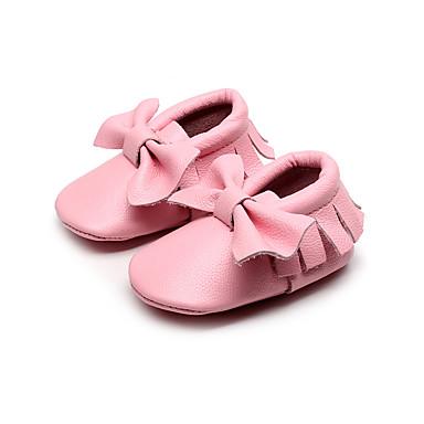 Meisjes Schoenen PU Herfst Comfortabel Loafers & Slip-Ons Strik voor Causaal Roze