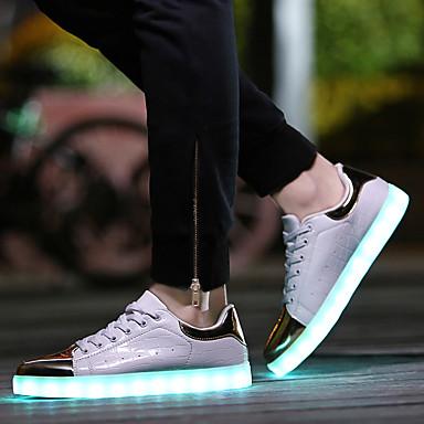 JB-632-2 Løbesko Herre / Dame Anti-glide / Oplyst / Ultra Lys (UL) / Påførelig PU Gummi Løbe / Fornøjelse Sport Sneakers / Fritidssko
