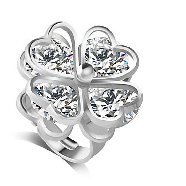 Midiringen Legering Strass imitatie Diamond Modieus Zilver Sieraden Feest Dagelijks 1 stuks