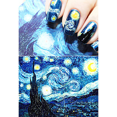 1 pcs Cinta de tela metálica arte de uñas Manicura pedicura Glitters / Dibujos / Moda Diario / Cinta adhesiva