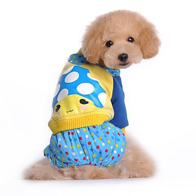 Hund Overall Hundekleidung Niedlich Lässig/Alltäglich Cartoon Design Rose Blau Kostüm Für Haustiere