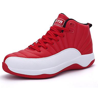 Sneakers-PU-Komfort-Herre-Sort Blå Rød-Fritid-Flad hæl