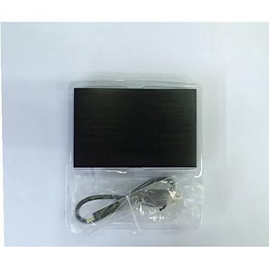 caixa de disco rígido móvel de 2,5 polegadas notebook caixa de disco rígido USB 2.0 de metal disco rígido cor aleatória