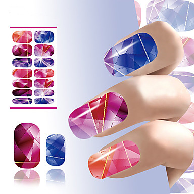 1pcs Etiqueta engomada de la transferencia arte de uñas Manicura pedicura Flor / Moda Diario