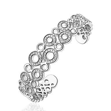 Dame Manchetarmbånd Åben Mode Justérbar Sølv Sølvbelagt Legering Cirkelformet Smykker Fest Daglig Afslappet Kostume smykker