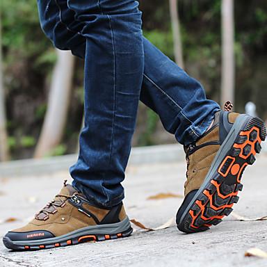 Heren Schoenen Maatwerkmaterialen Lente Zomer Herfst Comfortabel Sneakers Trektochten Veters voor Sportief Donkerblauw Khaki