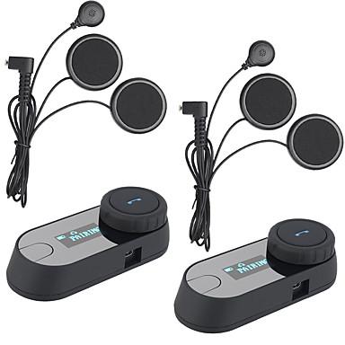 2 Stück 2016 Version bt bluetooth Motorradhelm-Sprechanlage Kopfhörer LCD-Bildschirm fm radiosoft Kopfhörer TCOM-sc