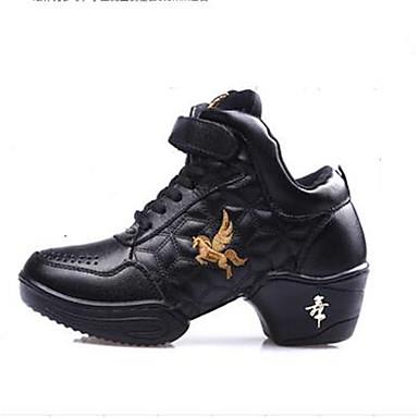 Sneakers-LæderDamer-Sort-Udendørs Fritid-Flad hæl