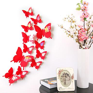 Dieren Wall Stickers 3D Muurstickers Decoratieve Muurstickers / Koelkaststickers / Bruiloftsstickers,pvc MateriaalVerwijderbaar /