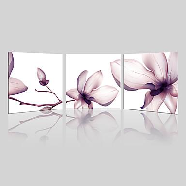 Canvas Set / Ingelijste canvas Landschap / Bloemenmotief/Botanisch Modern,Drie panelen Canvas Vierkant Print Art wall Decor For