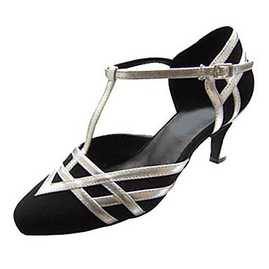 Damen Schuhe für den lateinamerikanischen Tanz Schuhe für modern Dance Beflockung Sandalen Absätze Innen Professionell Schnalle Ausgehöhlt