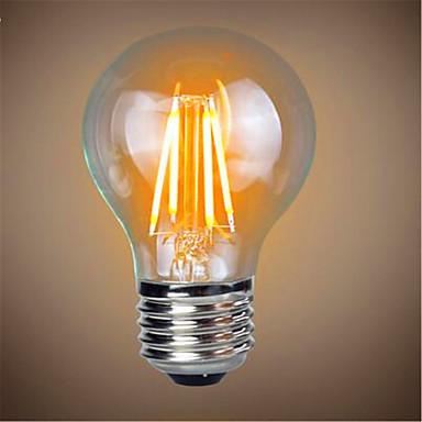 1pc 4 W 350 lm E26 / E27 LED Glühlampen A60(A19) 4 LED-Perlen COB Dekorativ Warmes Weiß 220-240 V / 1 Stück / RoHs