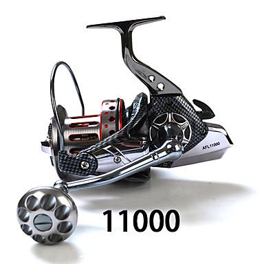 Spinne-hjul 4:7:1 Gear Forhold+11 Kulelager Hånd Orientering Byttbar Søfisking - SP11000