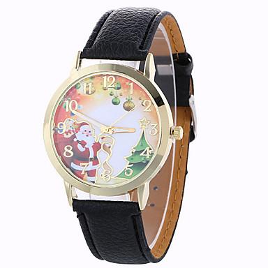 Damen Armbanduhr Kleideruhr Modeuhr Quartz / PU Band Schneeflocke Schwarz Weiß Blau Rot Braun Grün Elfenbein Rotgold