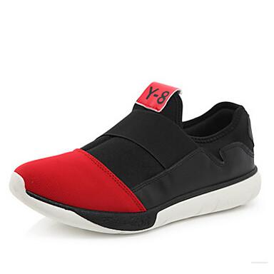 Heren Sneakers Lente Zomer Herfst Winter Canvas Buiten Casual Platte hak Zwart Rood Blauw Wandelen