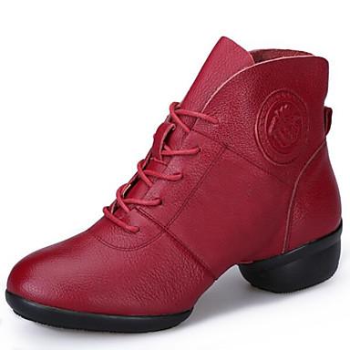 796e5cd5d4f Women's Modern Shoes / Dance Boots Leather Boots / Split Sole Lace ...