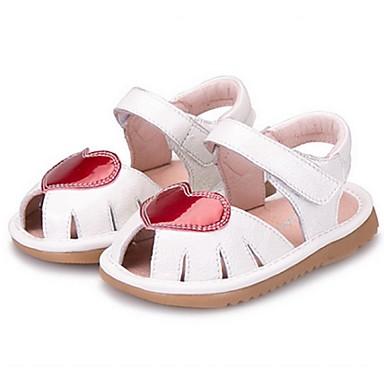 Meisjes Schoenen Microvezel Zomer Sandalen voor Baby Causaal Wit Zwart
