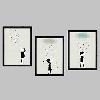 Pânză Înrămată Set Înrămat Desene Animate Wall Art, PVC Material cu Frame Pagina de decorare cadru Art Sufragerie Cameră Copii