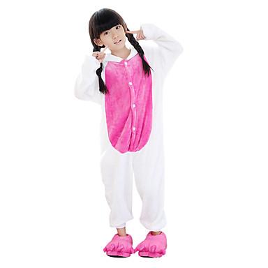Pijama Kigurumi Unicorn Pijama Întreagă Costume Flanel Lână Albastru Cosplay Pentru Sleepwear Pentru Animale Desen animat Halloween