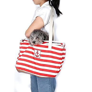 Kat / Hond Dragers & Reistassen / Schoudertas Huisdieren Dragers draagbaar rood / blauw Stof