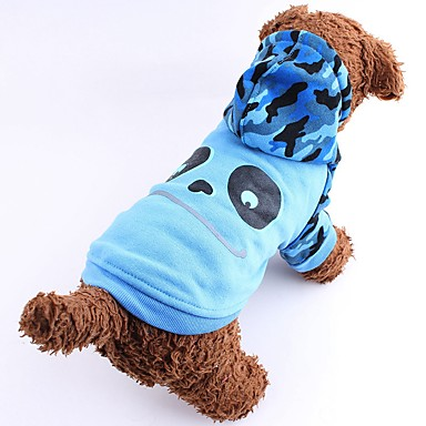 Cat Dog Costume Hoodie Dog Clothes Cartoon Gray Rose Brown Green Blue Cotton Costume For Pets Men's Women's Cute Cosplay