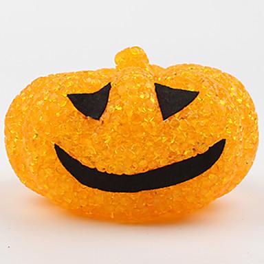 1pc halloween plast krystal græskar natlys