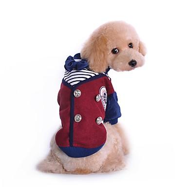 Kat Hond kostuums T-shirt Hondenkleding Schattig Cosplay Modieus Brits Grijs Wijn Kostuum Voor huisdieren