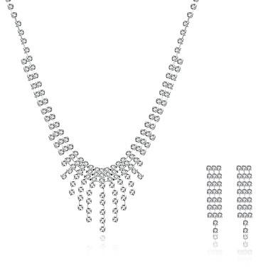 Damen Schmuckset Braut-Schmuck-Sets Halskette / Ohrringe Sterling Silber Zirkon Kubikzirkonia Personalisiert Quaste Retro Party Freizeit