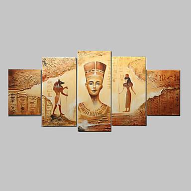 El-Boyalı Soyut herhangi Şekli Tuval Hang-Boyalı Yağlıboya Resim Ev dekorasyonu Beş Panelli