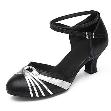 Aanpasbaar-Dames-Dance Schoenen(Zilver / Goud) - metBlokhak- enLatin / Modern