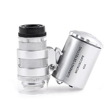 Mikroskop Forstørrelsesglass Leketøy Objektiv med LED-lys Originale ABS 1 Deler