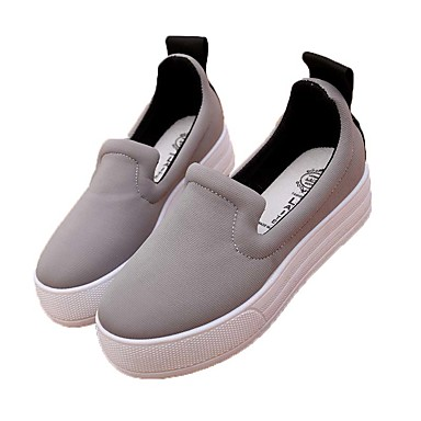 Damer Sneakers Kanvas Forår Sommer Efterår Vinter Afslappet Gang Flad hæl Sort Grå Rød 2,5-4,5 cm