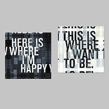 Print Stretched Canvas Print Canvas Set - Words & Quotes Modern