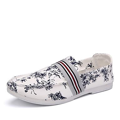 Herrn Schuhe Stoff Frühling Herbst Komfort Loafers & Slip-Ons für Normal Rot Blau