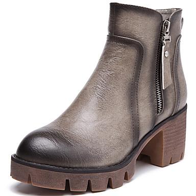Støvler-SyntetiskDamer--Kontor Fritid-Tyk hæl Blokhæl