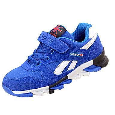 Sneakers-PU-Komfort-Drenge-Rød Mørkerød Marineblå-Fritid-Flad hæl