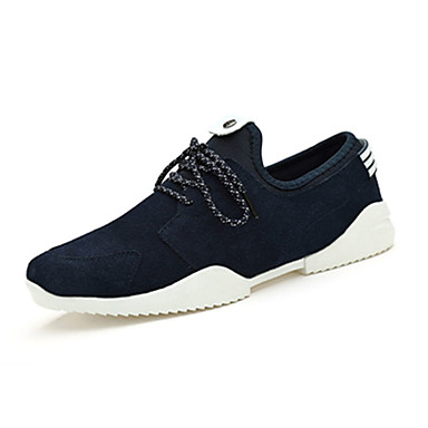 Sneakers-Stof-Komfort-Herre-Sort Blå-Fritid-Flad hæl