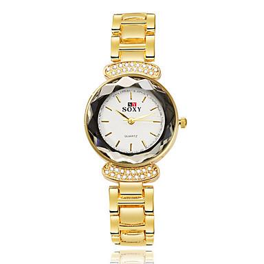 SOXY Dames Modieus horloge / Dress horloge / Armbandhorloge Waterbestendig / Strass Legering Band Bangle Goud Rose / Een jaar / SODA AG4