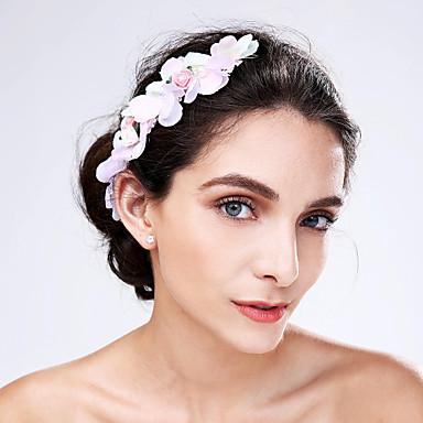 Dame Tyll Akryl Hodeplagg-Bryllup Spesiell Leilighet Blomster 1 Deler