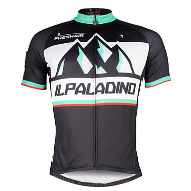 ILPALADINO Hombre Manga Corta Maillot de Ciclismo Bicicleta Camiseta / Maillot, Secado rápido, Resistente a los UV, Transpirable