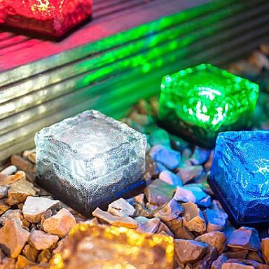 rgb mooie waterplein zonne-energie lamp zonne-ijs geleid vorst glas baksteen licht oplaadbare